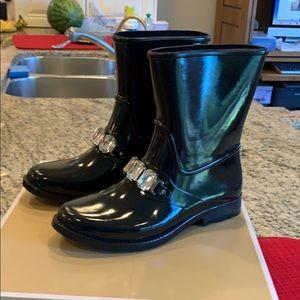 Beautiful Michael Kors black rain boots. Size 7